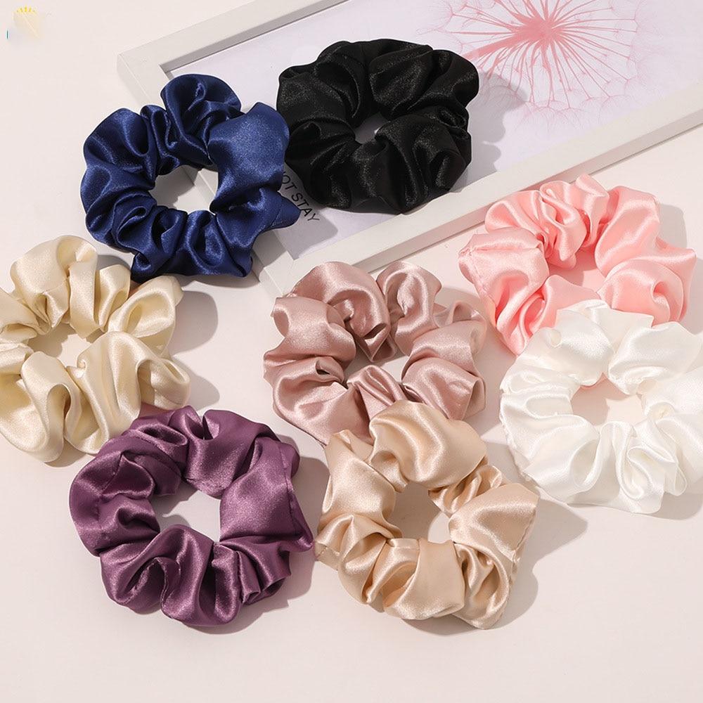 Top Smooth Silk Scrunchies 2021 Spring Summer New Elastic Hair Rope For Sale France Elegant Hair Chouchou High Quality