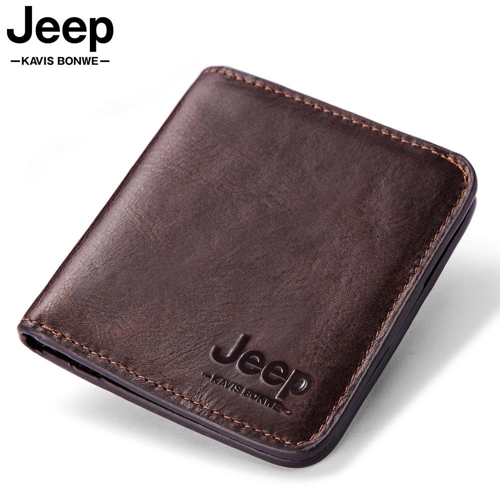 HOT 2021 Thin Genuine Wallet Men Leather Men Wallets Purse Short Male Clutch Leather Wallet Mens Mon