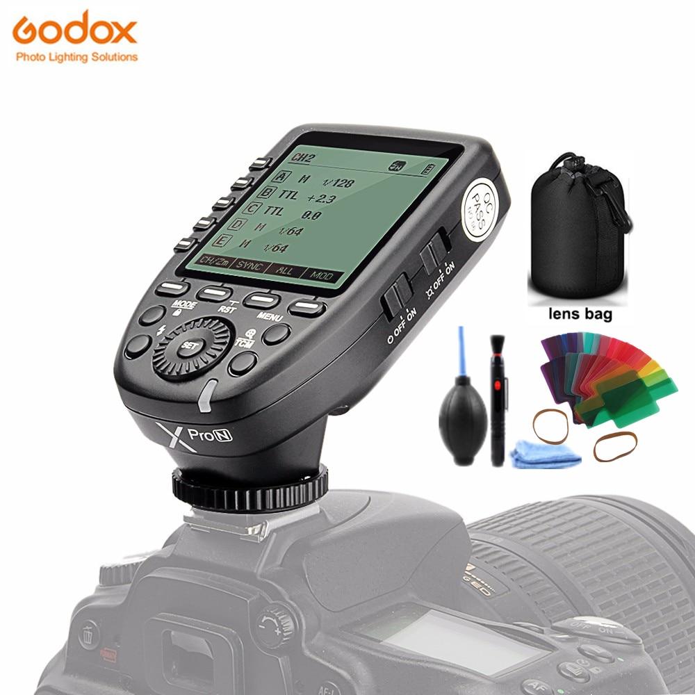 Godox Xpro-N i-ttl II 2,4G inalámbrico X sistema de alta velocidad sync Flash Trigger con gran transmisor de pantalla LCD para cámara Nikon DSLR