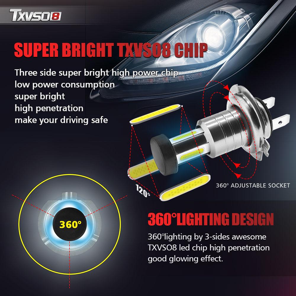 110 w 30000lm h7 led kit de conversão farol do carro lâmpada alta/baixa feixe 6000 k eficiência de luz ideal