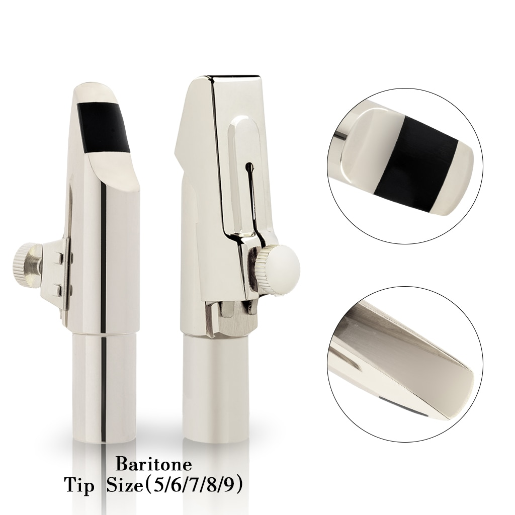 Silver Plated Baritone Saxophone Mouthpiece Sax Mouth Size 5 6 7 8 9 Baritone Saxophone Mouthpiece MTP Saxophone Accessories enlarge