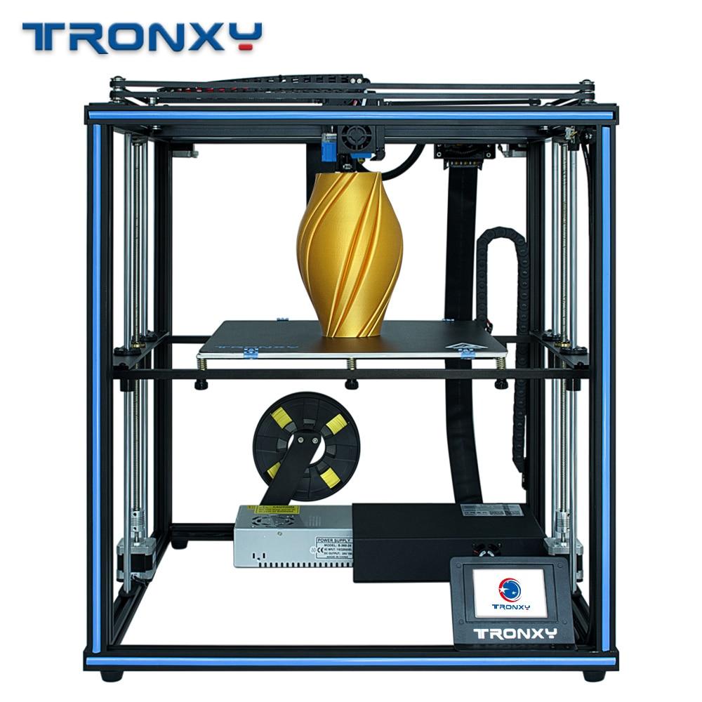 Tronxy x5sa pro kit de impressora 3d corexy diy osg eixo duplo trilho guia externo & titan extrusora filamento flexível impressora de metal 3d