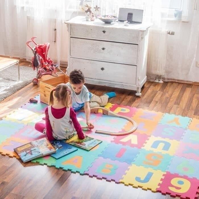 36 قطع من 32*32*1 سنتيمتر الحصير لغز ألعاب الأطفال الأبجدية رغوة أرقام تلعب حصيرة الطابق الاطفال السجاد للأطفال سلامة اللعب HWC