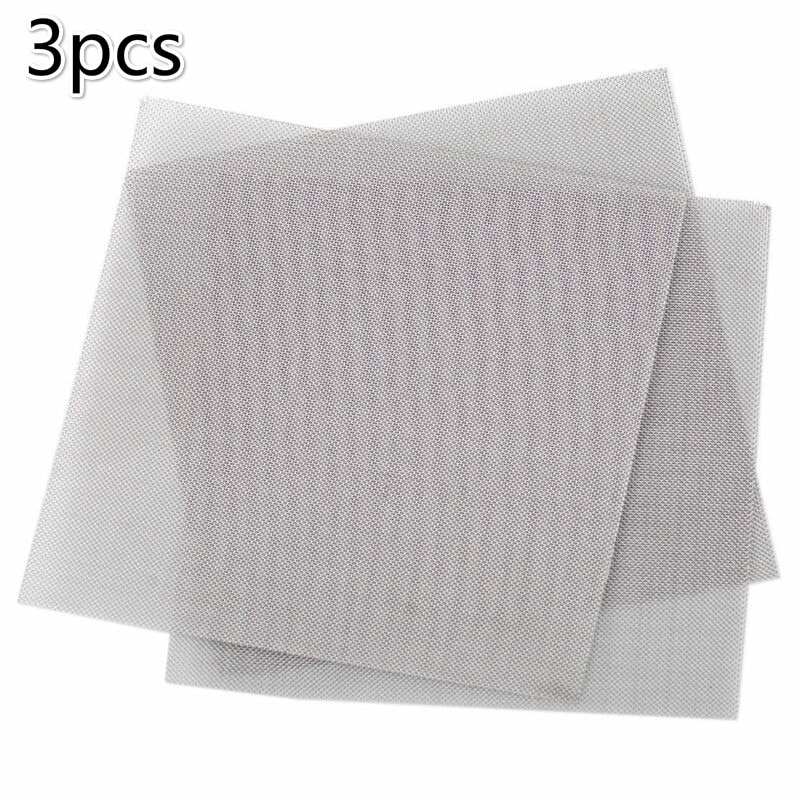 3 pieces 50 mesh 10x10cm Woven Wire Cloth Screen Filter Sheet, used to filter industrial coatings