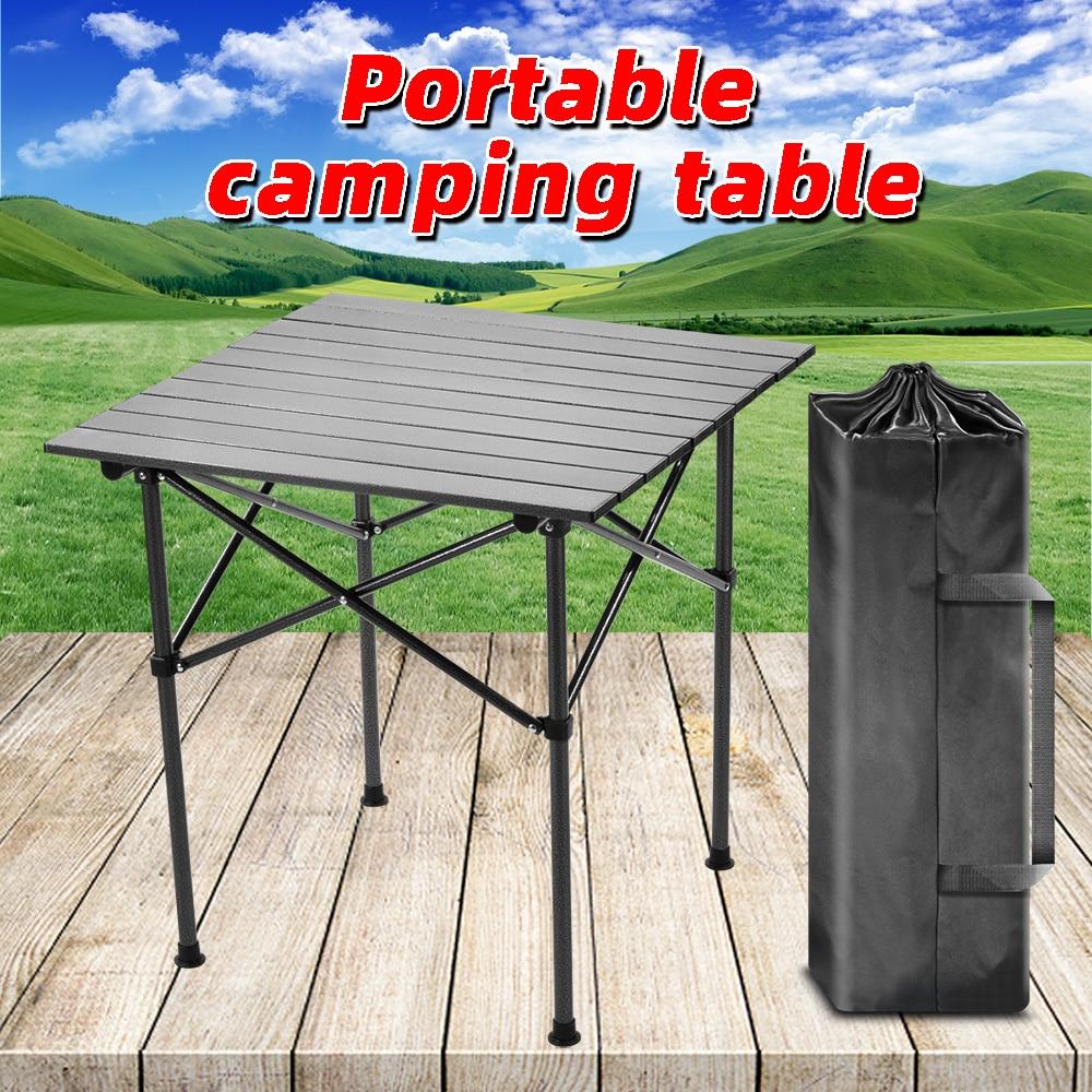 Mesa plegable para exteriores, mesa plegable para acampar, portátil, plegable, pequeña