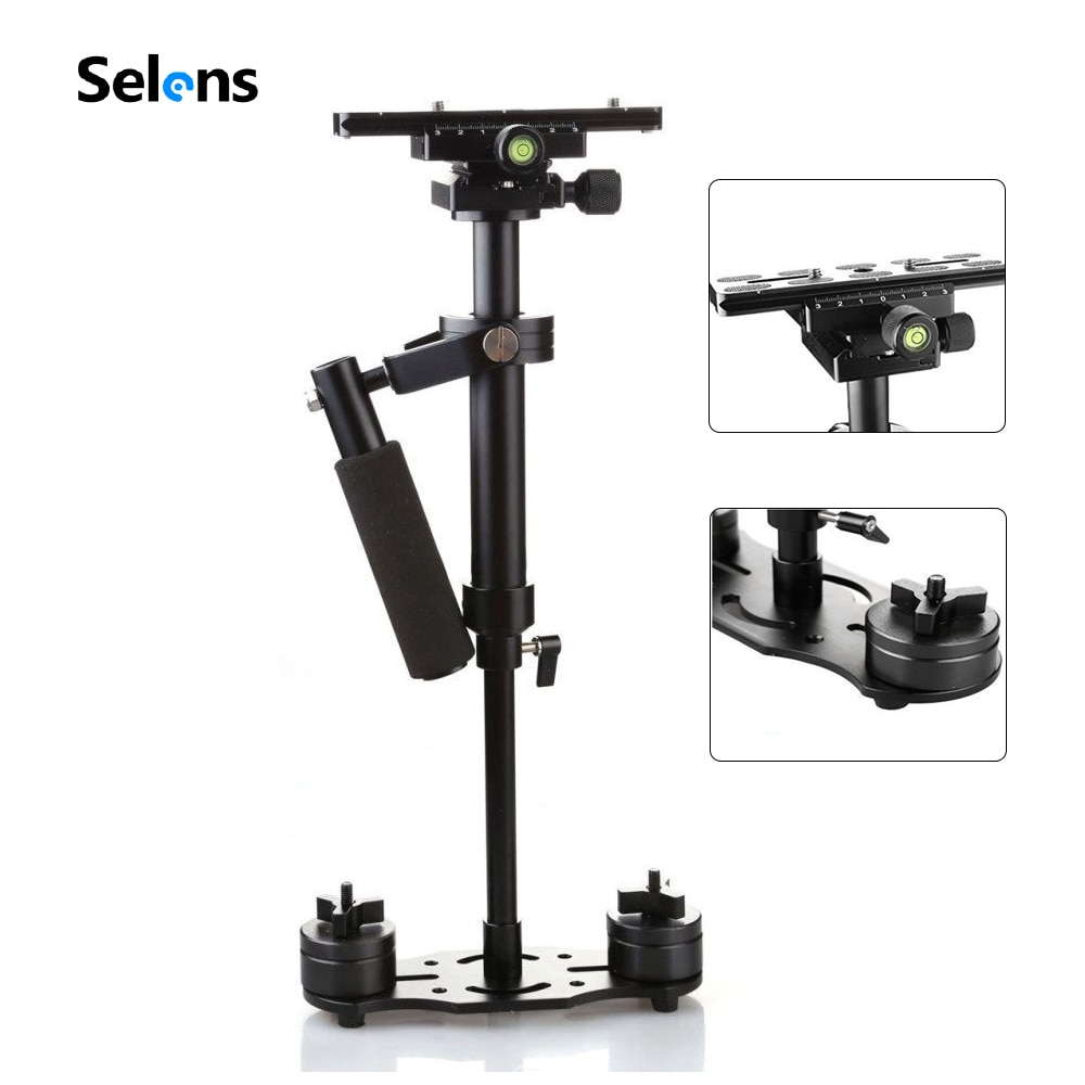 SITOO S40 Handle Stabilizer 40cm Aluminum Alloy Photography Video Handheld Stabilizer Shooting Steadycam DSLR Camcorder With Bag