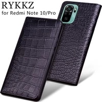 luxury genuine flip leather case for xiaomi redmi note 10 flip cover handmake leather cases for redmi note 10 pro case
