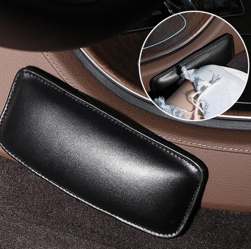 Rodillera de cuero para coche, cojín de Interior para Hyundai CCS NEOS-3 Accent SR HND-4 Blue-Will i-blue IX45 Sonata Elantra Azera