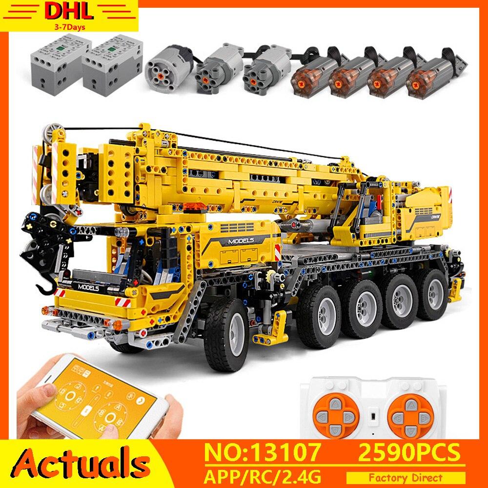 20004 APP RC Serie Técnica coche Motor potencia grúa móvil Mk II Modelo bloques de construcción ladrillos compatibles con 42009 juguetes niños regalo