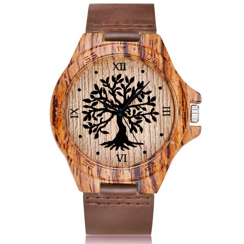 Animal Deer Tree Imitation Wood Watch Men Women Couple Wristwatch Imitate Wooden Watches Acrylic Cas