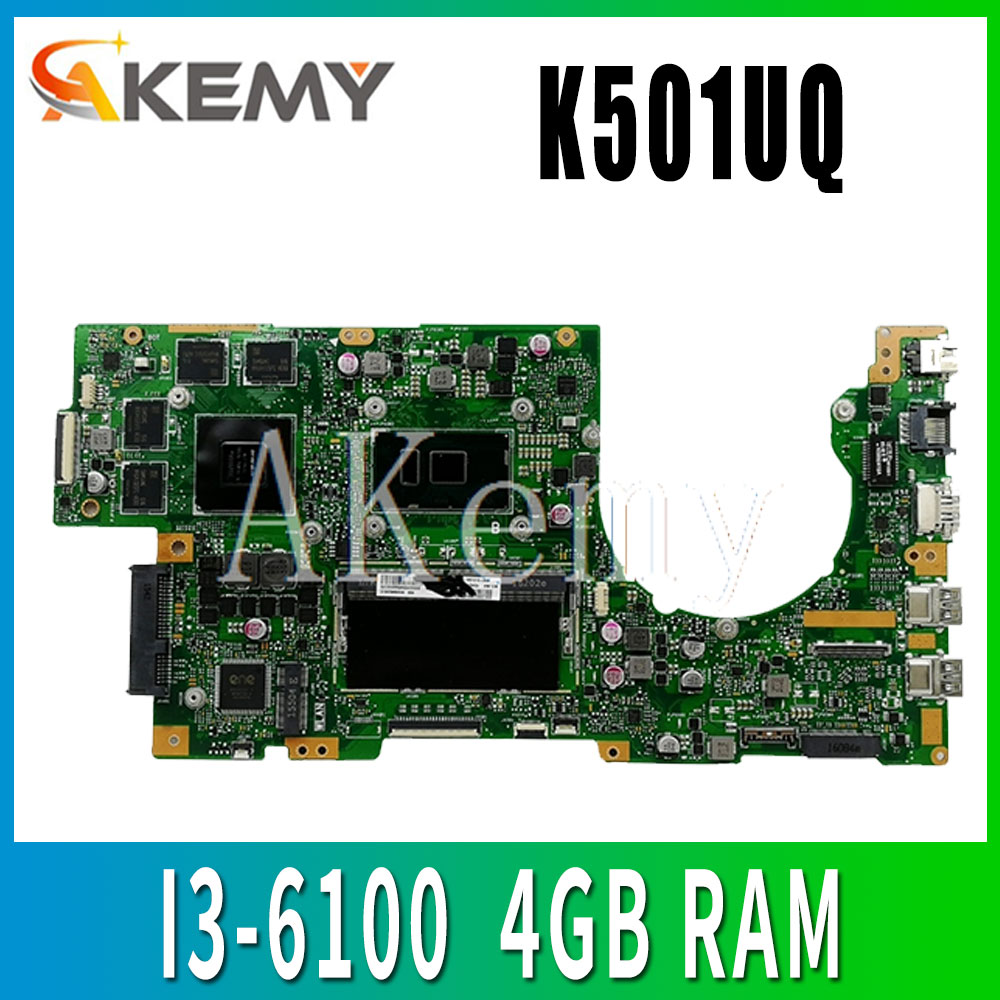 K501UQ اللوحة الأم للكمبيوتر المحمول For for ASUS K501UQ K501UXM K501UW K501UWK اختبار اللوحة الرئيسية اختبار موافق GT940M I3-6100 4GB RAM