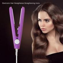 Mini Ceramic Electric Hair Straightener Curling Iron Straightening Corrugated Irons Home DIY Hair St