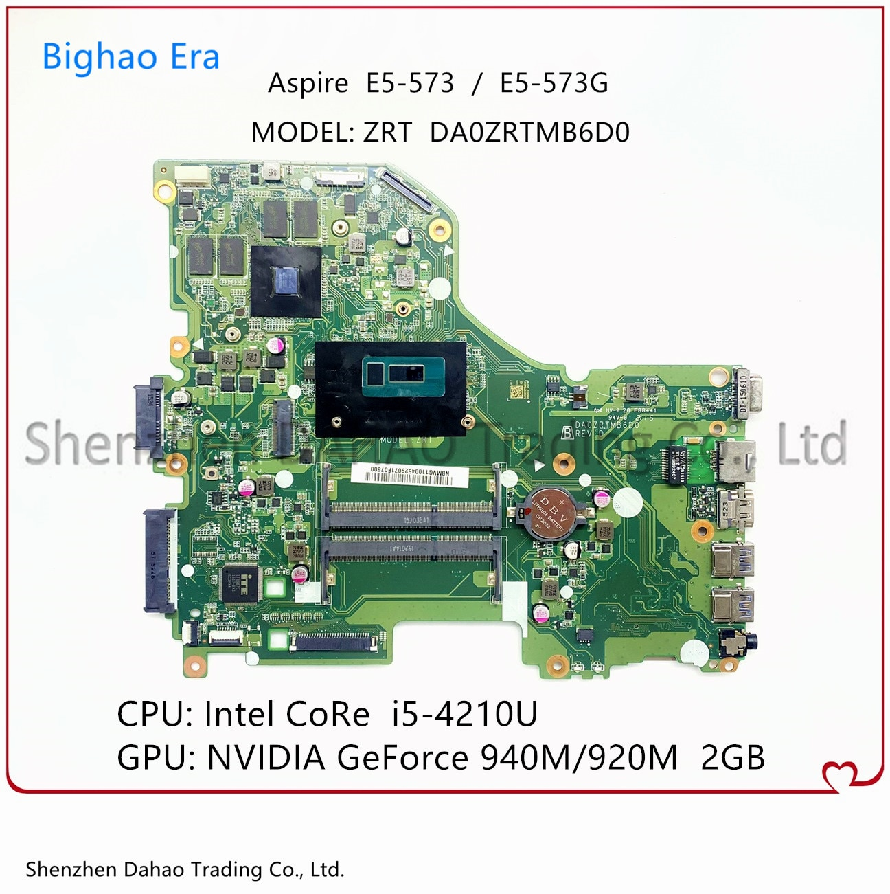 DA0ZRTMB6D0 ZRT اللوحة الرئيسية لشركة أيسر E5-573 اللوحة الأم لأجهزة الكمبيوتر المحمول E5-573G NBMVM11003 ث/i5-4210U وحدة المعالجة المركزية GT920M/940M 2G-GPU 100% اختبارها