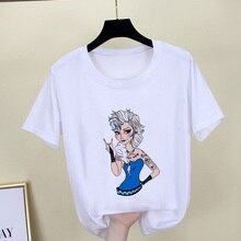 Korean Tops Kawaii Streetwear T Shirt Women 2019 Summer Graphic Tshirt Female Funny Punk Princess Print Fashion Harajuku T-Shirt