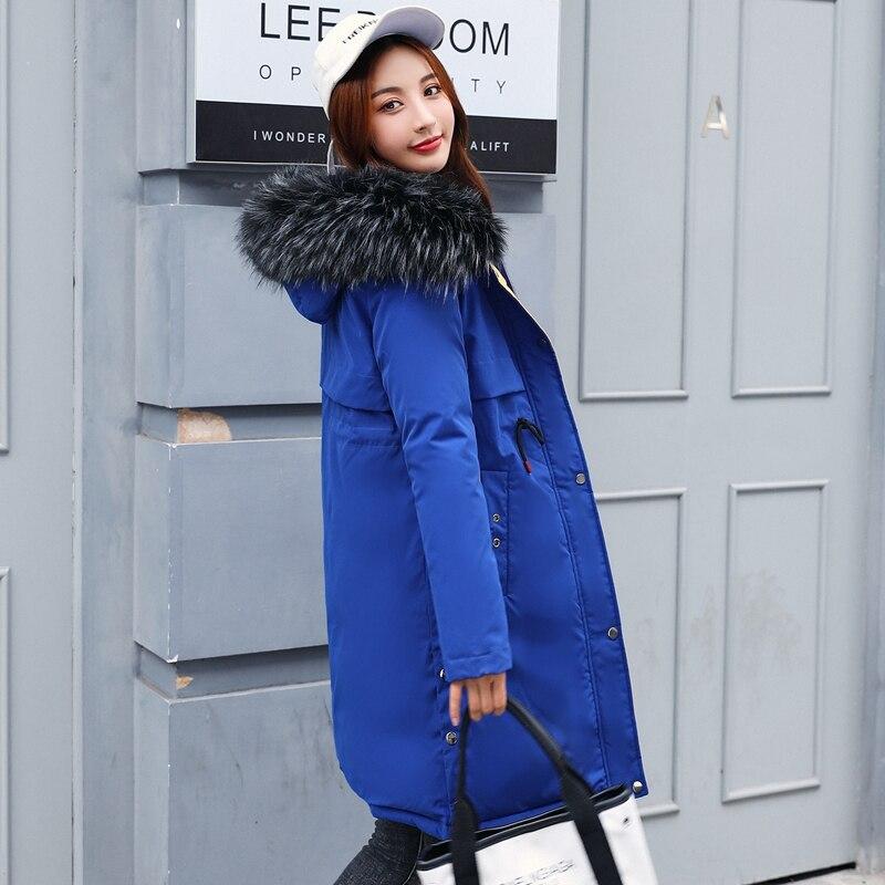Drawstring Slim Coat Jacket Hooded Winter Jacket Women Parkas Nice New Women Jacket Fur Collar Outerwear Female Plus Size 3XL