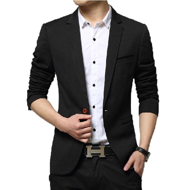 Новинка Осень-зима 2021, мужские костюмы, Блейзер, мужские корейские облегающие однотонные куртки в стиле смарт-кэжуал, деловые мужские костю...