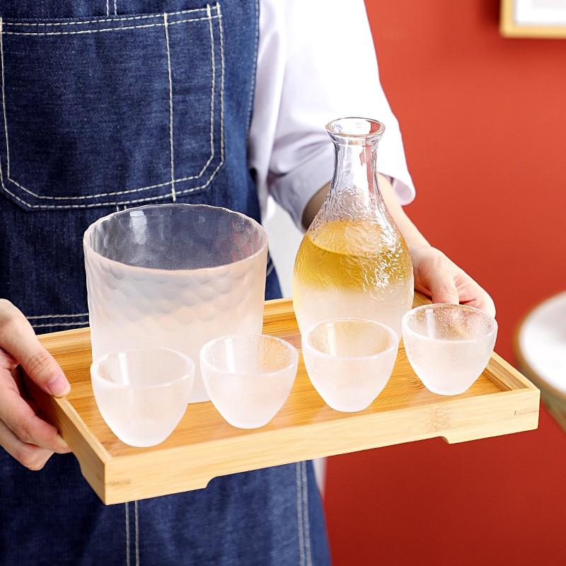 Japonés barra de cristal conjuntos creativo transparente hecho a mano caliente jarra...