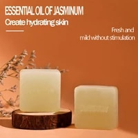 jasmine essential oil handmade soap oily skin acne pimples black head pores repair natural greasclean antioxidant bath gentle