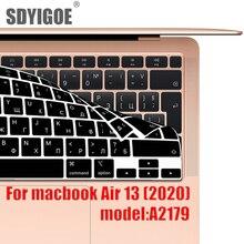 Couverture de clavier dordinateur portable pour macbook Air 13 2020 film de protection nouveau Air13.3 A2179 couverture de clavier en silicone russe espagnol corée