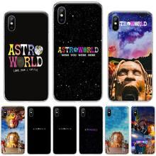 Astroworld singer Travis Scott USA Black TPU Soft Phone Case Cover For iphone 4 4s 5 5s 5c se 6 6s 7 8 plus x xs xr 11 pro max
