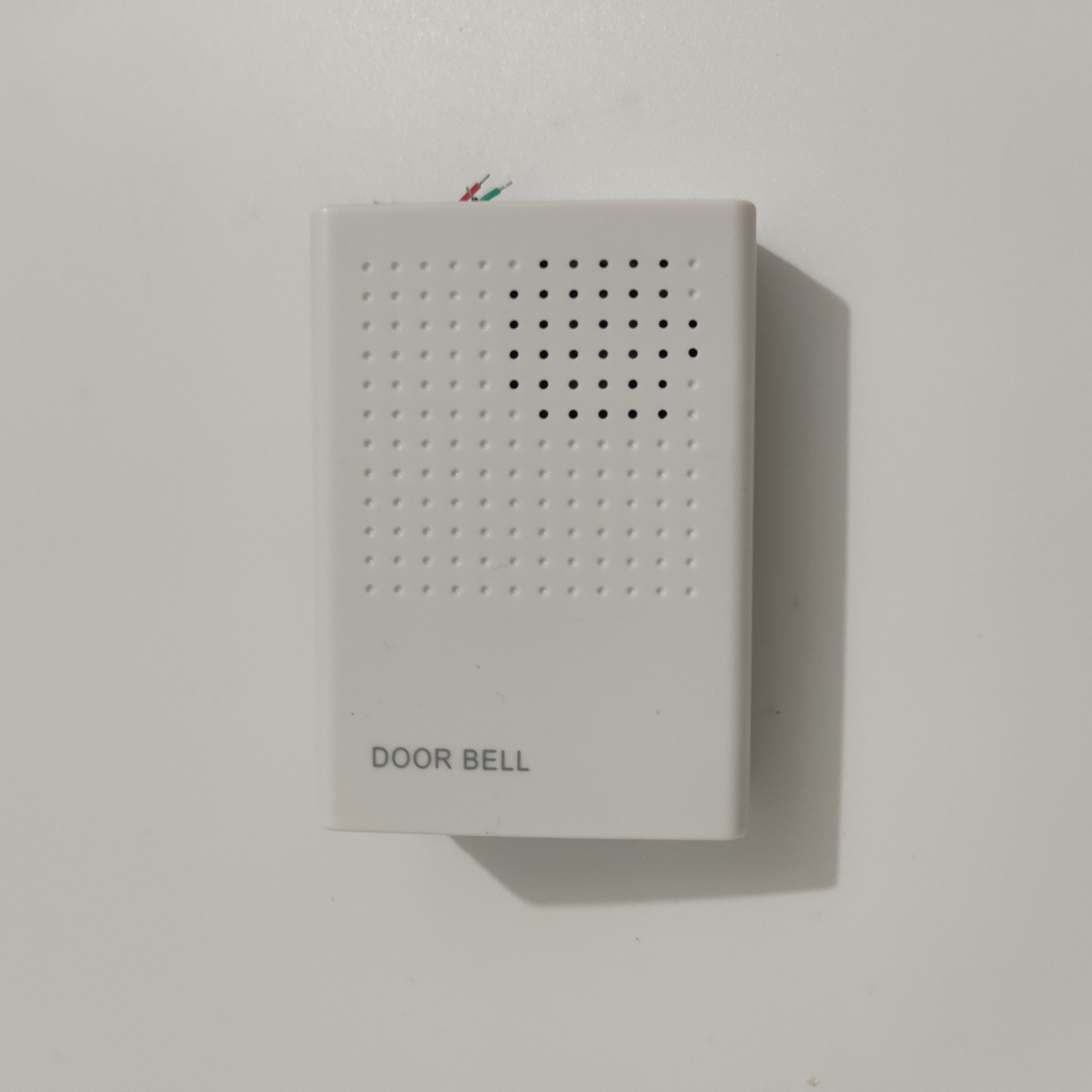 Wired Door Bell Chime DC 12V Vocal Wired Doorbell Welcome Door Bell For Office Home Security Access Control System White inhidaihd d110 24 melody wired doorbell white 3 x aa