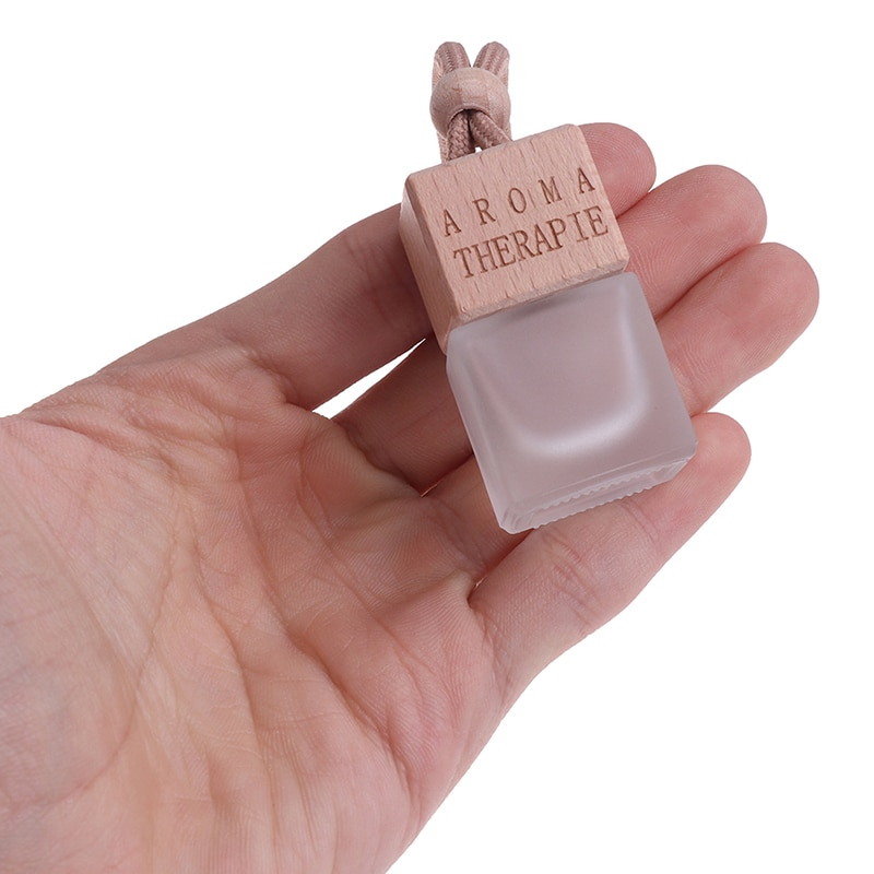 1Pc Matte Transparent Perfume Pendant Air Freshener Car Perfume Bottle for Essential Oils Auto Ornament Car Home Accessories