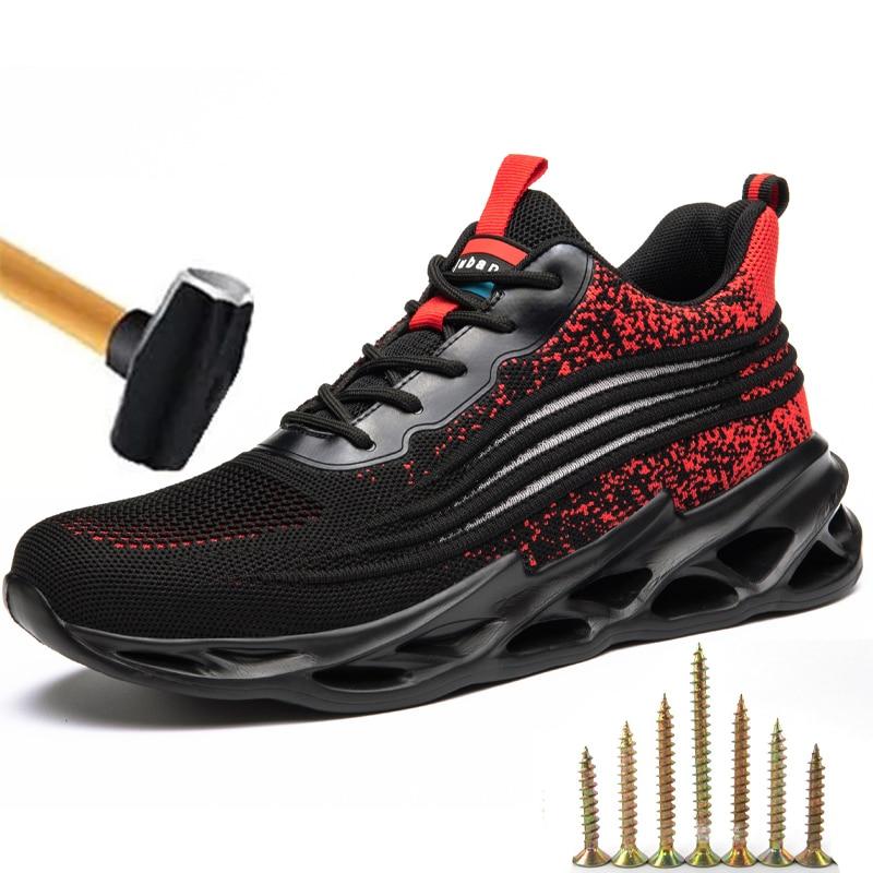 أحذية عمل آمنة للرجال ، أحذية عمل مقاومة للثقب بمقدمة فولاذية مقاومة للسحق ، أحذية رياضية خفيفة الوزن للرجال ، 2021