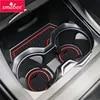 Smabee – tapis antidérapant à fente pour portail pour BMW X1 F48 2016 2017 2018 BMWX1 porte-gobelets en caoutchouc accessoires