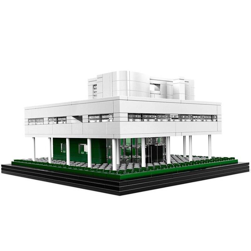 Модель MOC Villa, строительные блоки, модель дома, кирпич, мини-строительство, высокотехнологичные 21014, забавные игрушки «сделай сам» для детей
