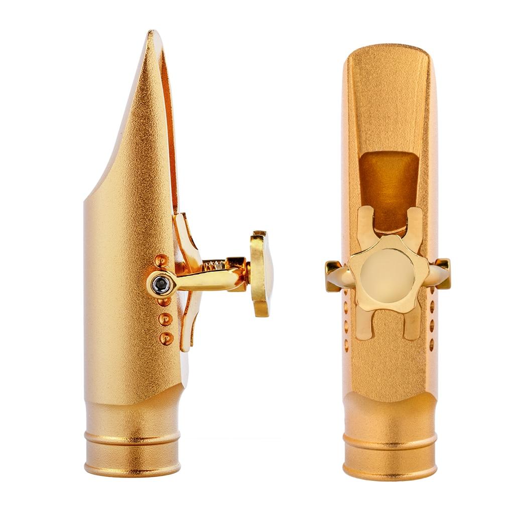 Professional Alto Saxophone Mouthpiece Saxofone Mouthpiece Sax MTP Adjustable Two Points Ligature Cap Size 6/7/8/9 Step Baffle enlarge