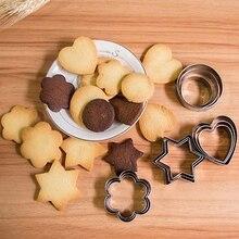 20 Pcs Pastry Accessoires Cookie Biscuit Cutter Mold Rvs Hart Bloem Ronde Star Vorm Taart Decoreren Gereedschappen