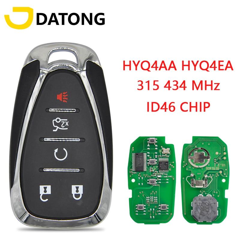 Автомобильный ключ Datong, дистанционное управление без ключа, для Chevrolet Cruze Spark Camaro Equinox Malibu 2017 2018 ID46 434 МГц FCC HYQ4EA, Автомобильный ключ