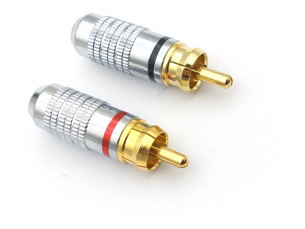 النحاس RCA التوصيل محول الصوت موصلات لحام