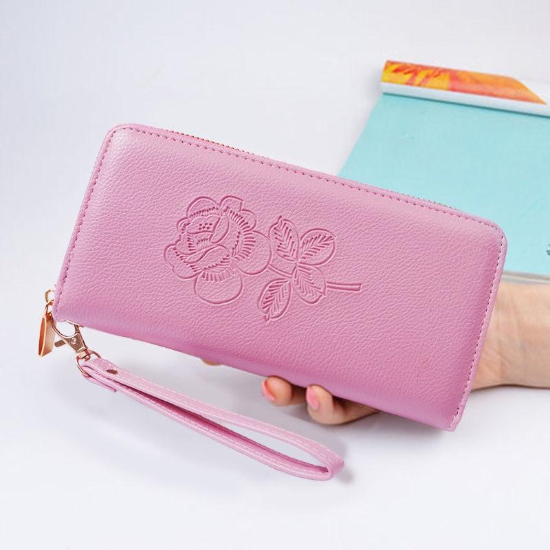 2021 женские кошельки с гравировкой, модные кожаные длинные высококачественные классические женские кошельки с держателем для карт, брендов...