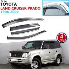 Pour Toyota Land Cruiser Prado Merú 90 J90 1996-2002 fenêtre visière Vent auvents pluie garde déflecteur abris voiture accessoires 1997