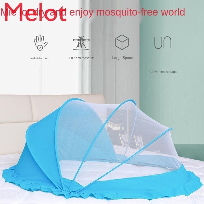 شبكة بعوض للأطفال غطاء القاع للطي الأطفال سرير بيبي الوليد يورت ظلة مكافحة البعوض صافي