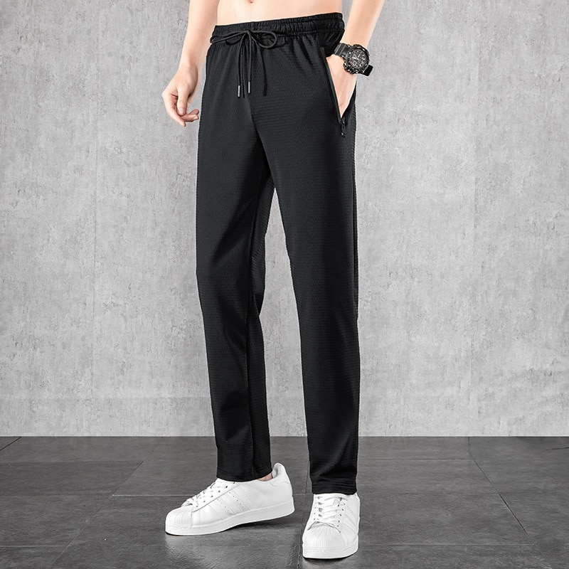 2021Ice Silk Breathable 2021 Summer Casual Pants Men's Fast Drying Pants Stretch Sports Pants 3428