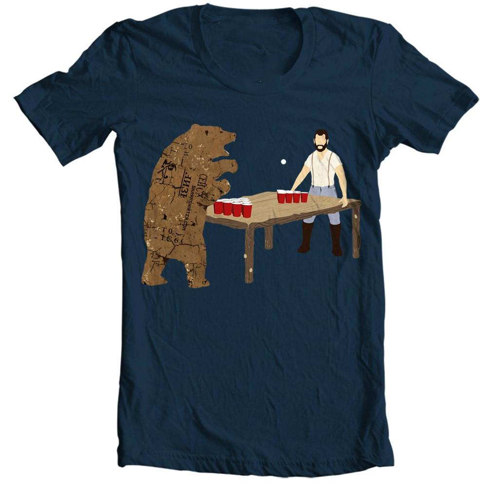 Bear Pong Beer Pong Bear Men's t shirt
