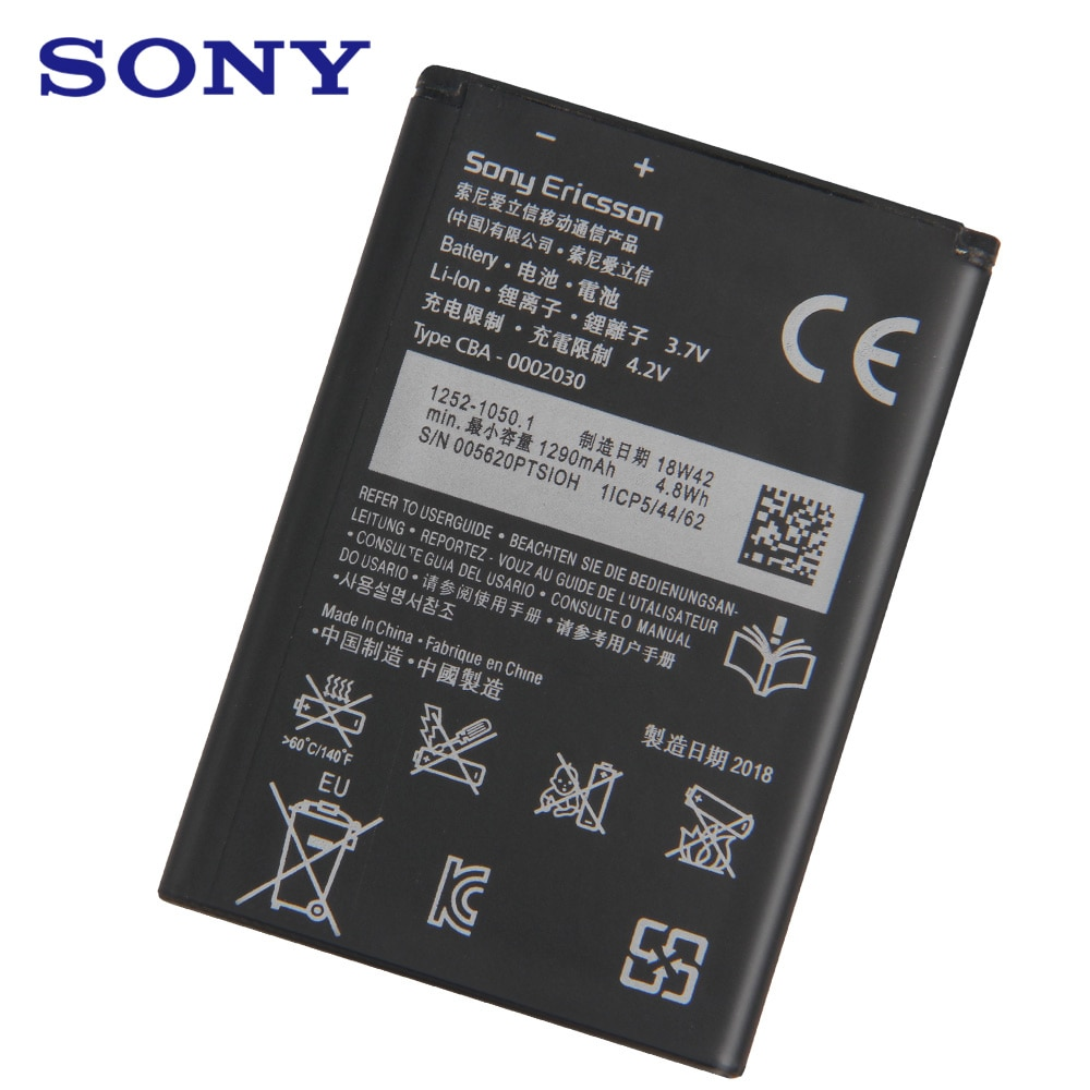 Sony Original Replacement Phone Battery BA600 For Sony ST25i ST25C Xperia U Kumquat BA600 Authentic Rechargeable Battery 1290mAh enlarge