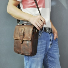 Quality Leather Male Fashion Casual Tote Messenger bag Designer Satchel Crossbody One Shoulder bag 8