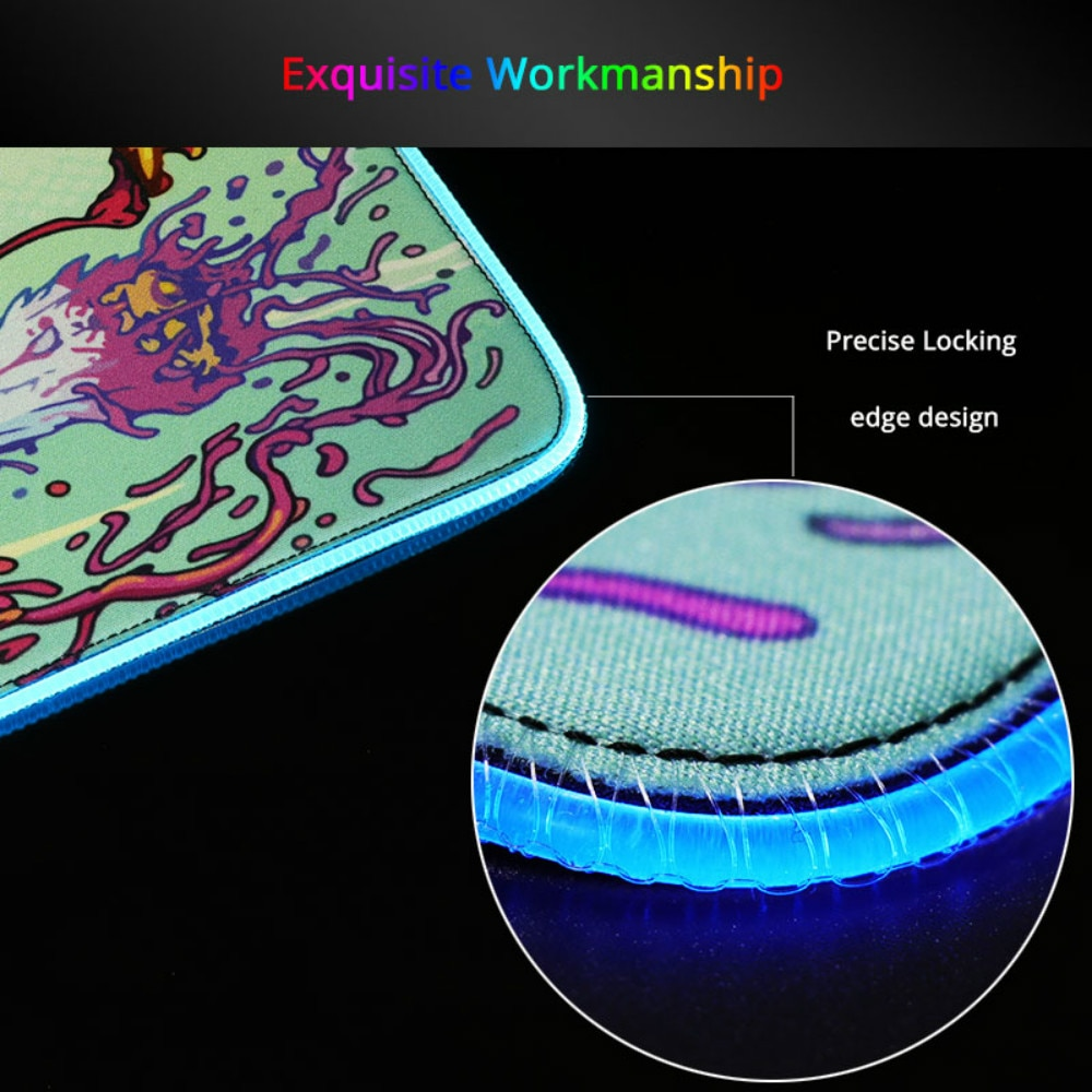 DIY Custom RGB Mouse Pad Computer Mausepad Xxl Backlight Pad Genshin Impact Gaming Accessories Gamer LED Carpet Gaming Mouse Mat enlarge