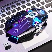 gaming mouse rechargeable wireless silent mouse led backlit 2 4g usb 1600dpi optical ergonomic mouse gamer desktop for pc laptop