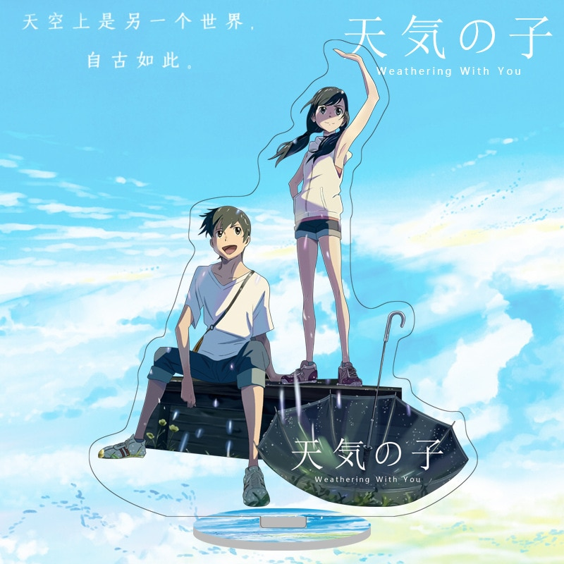 Figura de acción de Anime de Amano Hina, figura acrílica con soporte para decoración, Anime Weathering with You