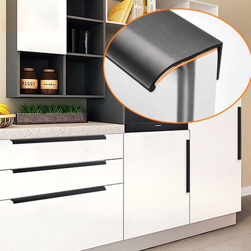 Moderne En Eenvoudige Onzichtbare Kast Deur Lade Meubilair Aluminium Handvat