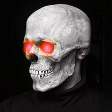 Halloween Full Head Skull Mask 3d Skeleton Skull Horror Latex Mask Scary Party Mask Halloween Cospla