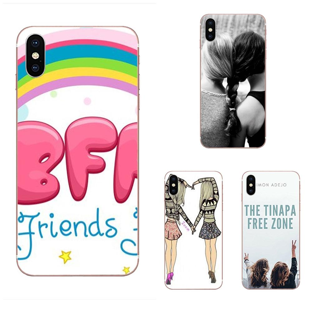 Mejores amigos Bff chica pelo juntos Dim gris para las mujeres para Xiaomi Mi A1 A2 A3 CC9 CC9E 9T mi10 mi9 mi8 pro lite SE