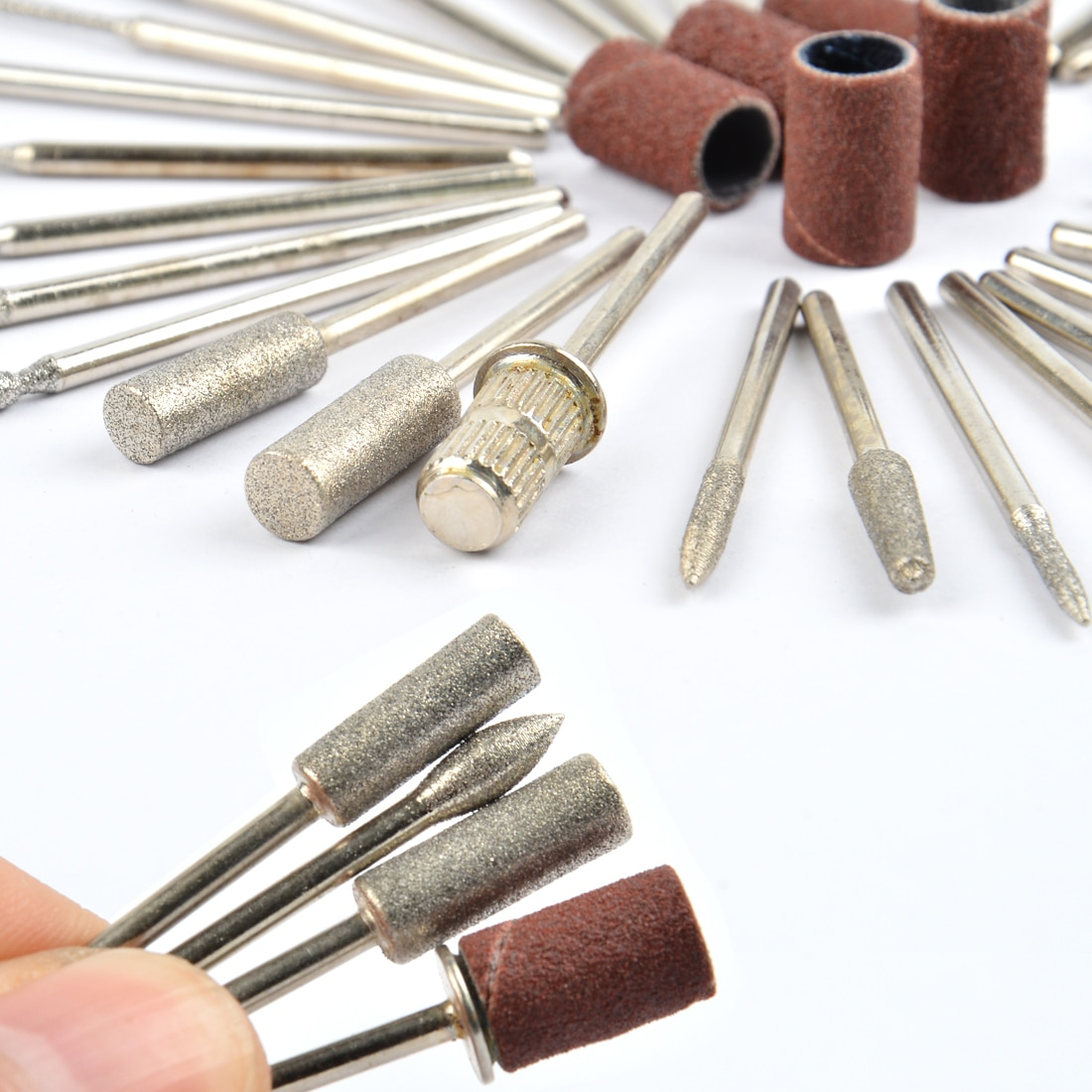 10pcs diamond cutters for manicure set nail drill bits set milling cutters for pedicure electric manicure drill accessory tools 36pcs Diamond Nail Drill Bit Set for Electric Manicure Rotary Pedicure Milling Cutters Gel Cleaner Nail Tools Accessories