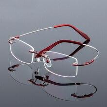 Metal de memória flexível sem aro óculos quadro homem mulher dobrável óculos de negócios óculos de grau miopia óculos ópticos 834.