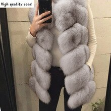 Long Fashion Ladies Imported Faux Fox Fur Vest 2020 Plus Size Women Faux Fur Coat Warm Winter Fake F