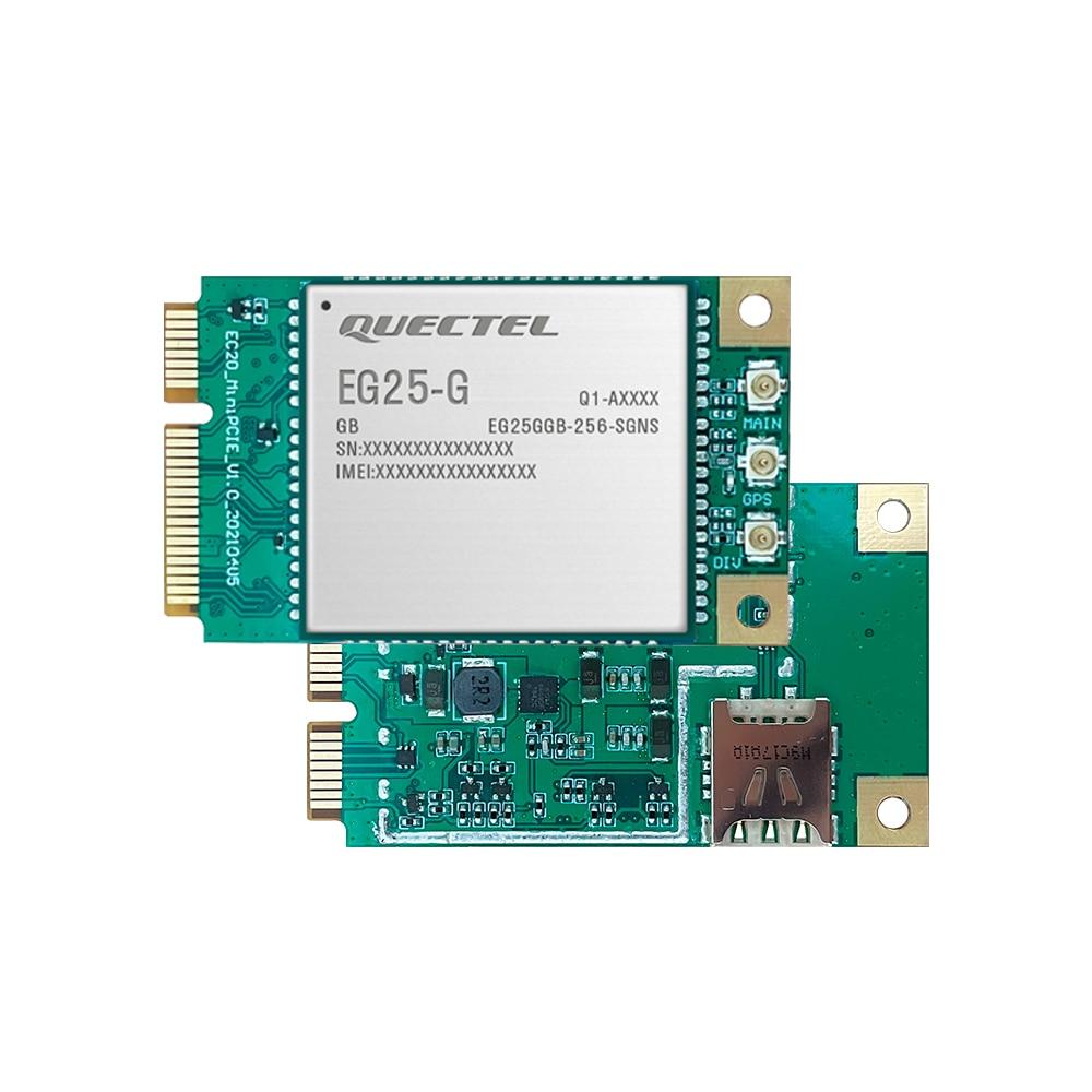 وحدة Quectel EG25-G صغيرة PCIE LTE Cat4 مع فتحة للبطاقات نانو سيم لاستقبال MIMO NSS العالمي 150Mbps طبعة مخصصة للأسفل
